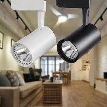 1pcs 20W 30W COB LED track light led rail lamp leds spotlights iluminacao lighting fixture for shop store spot lighting