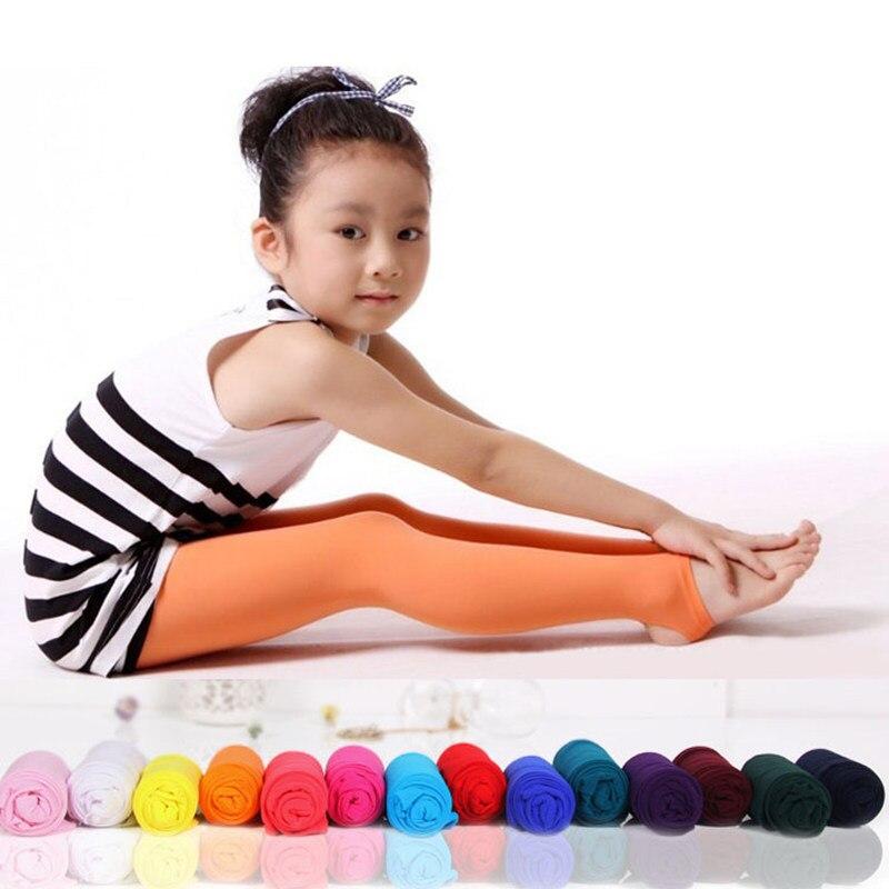Милые Мягкие вельветовые колготки для девочек, однотонные Непрозрачные колготки для танцев, штаны для От 4 до 12 лет