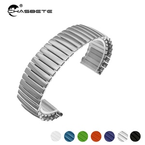 Stainless Steel Watch Band 12 14 16 18 20 22 24m'm for Oris Movado Tudor Epos Elastic Strap Loop Wrist Expansion Belt Bracelet