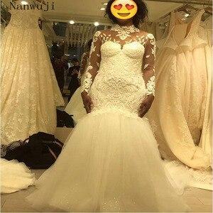 Женское кружевное свадебное платье It's yiiya, белое кружевное платье с длинными рукавами и блестками на лето 2018