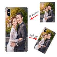 Personnalisé personnalisé bricolage doux étui en silicone pour iphone SE 2020 XS Max XR X 8 7 6 6S Plus pour iphone 11 Pro Max couverture personnalisée
