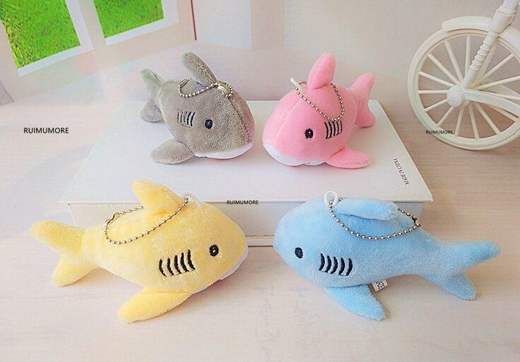 12 cm, brinquedo de pelúcia do tubarão do presente da corrente chave boneca, mini brinquedos pequenos do luxuoso do miúdo