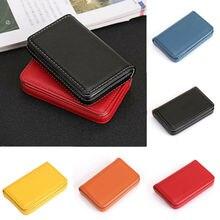 Pocket Waterproof Case Id Credit Cardcase Holder PU Card Wallet Box Business