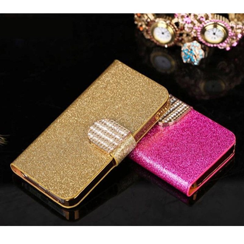 5.5 inches For Vodafone Smart N9 Luxury Flip PU Leather Phone Case For Vodafone Smart N9 Shell Shiny