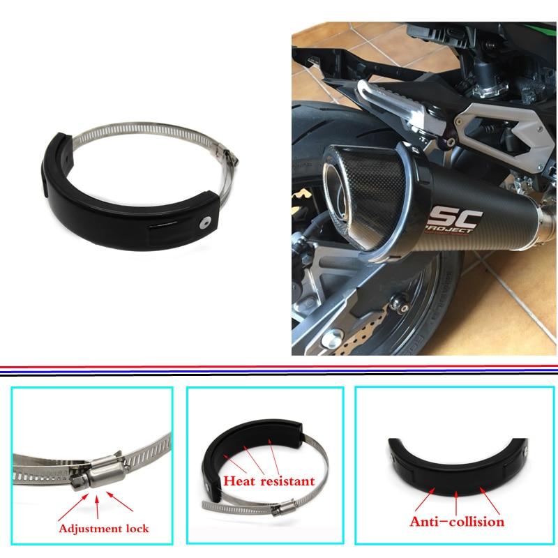 Para suzuki gsf 1250/1200/650/600 bandit gsx 1250fa acessórios da motocicleta silenciador/redondo protetor de escape oval pode cobrir