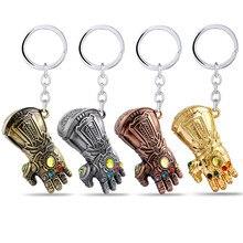 Os vingadores 3 chaveiro infinity gauntlet thanos chaveiro luvas metal lembranças de ouro para homem chaveiro llaveros