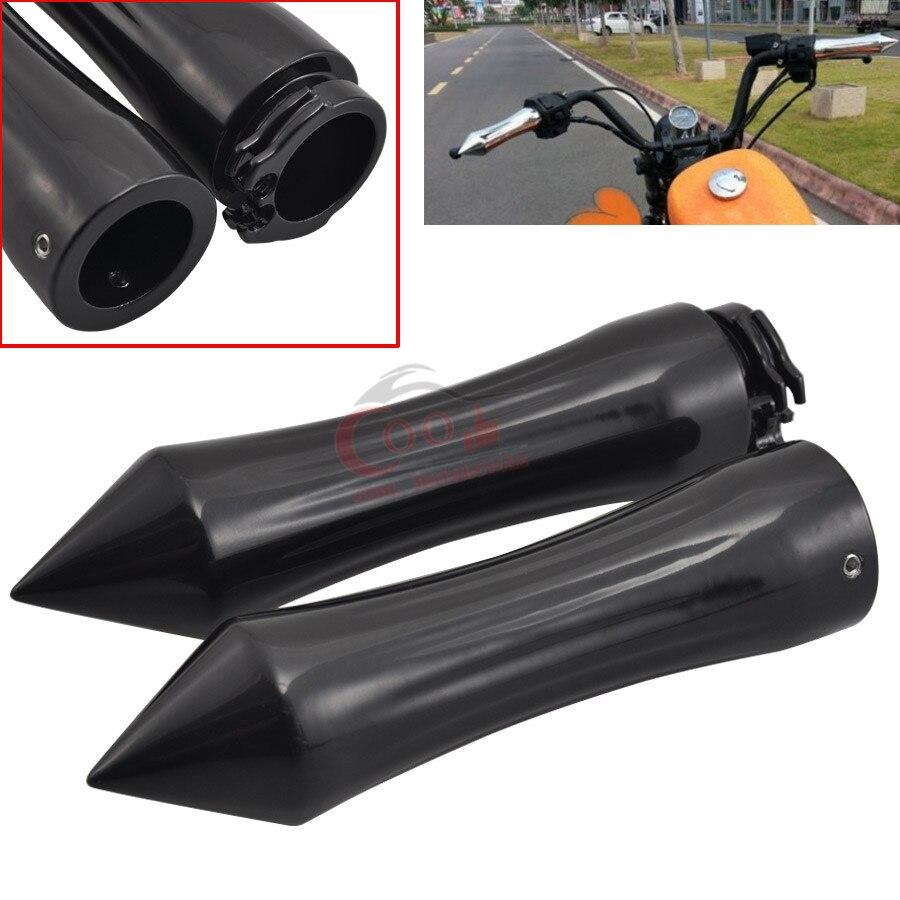 """Motocicleta 1 """"spike boleto alumínio guidão apertos de mão apto para honda yamaha suzuki kawasaki cruzadores bicicletas universal"""