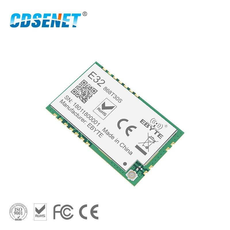 SX1278 868MHz 1W SMD Wireless Transceiver CDSENET E32-868T30S 868 mhz SMD Stempel Loch SX1276 Long Range Transmitter und empfänger