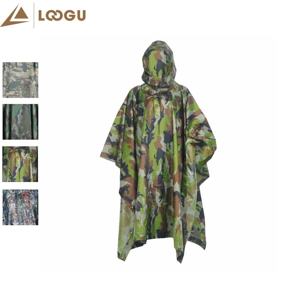 Invisibility Cloak Ultralight Raincoat Military Camo Rain Poncho Multifunction Men Awnings Shelter Woodland Outdoor Climbing