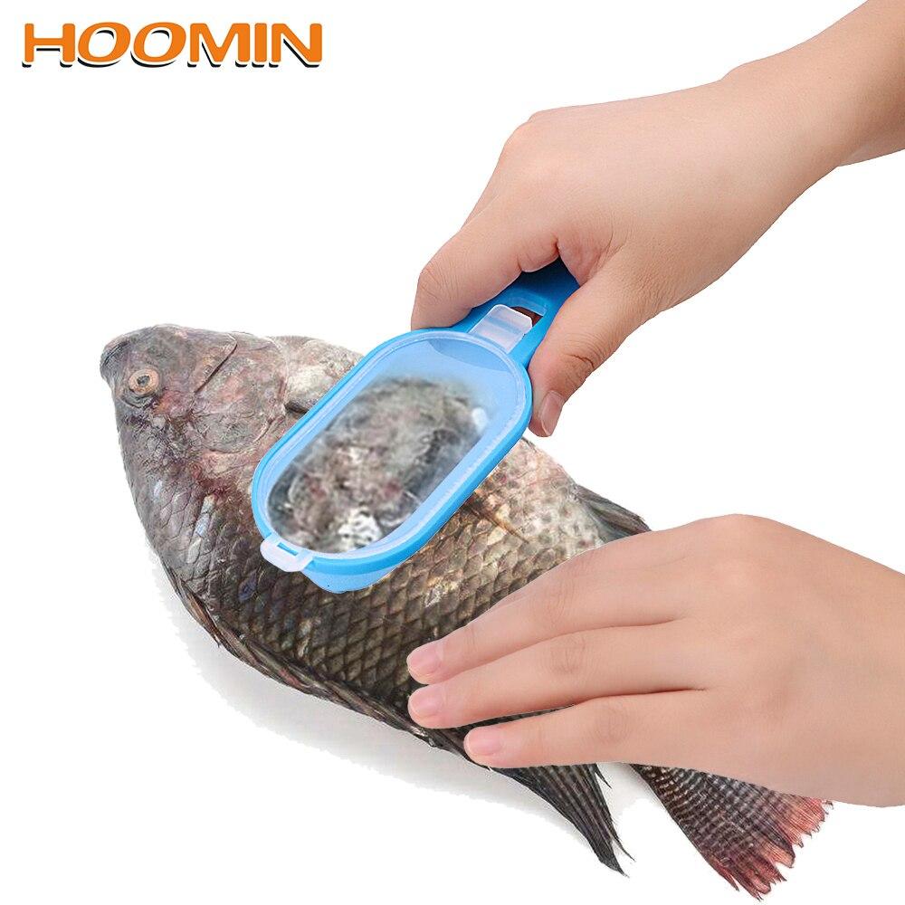 HOOMIN pescado Herramientas de limpieza para la cocina Gadgets removedor de piel y escamas de pescado Scaler y cuchillo raspador de escamas de pez abridor de almejas