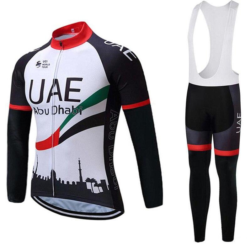 Nueva camiseta de ciclismo transpirable, ropa de Ciclismo MTB, camisas de manga larga, conjunto de pantalones bib UCI World Tour para hombres, uniforme de bicicleta de carretera Y040305