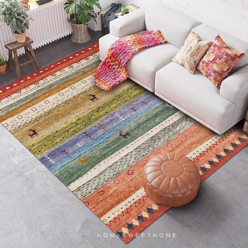 Estilo indiano tapetes para sala de estar nordic marrocos quarto tapete sofá mesa café sala estudo tapetes da sala jantar
