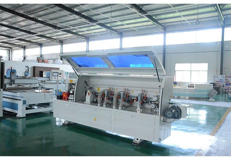 Máquina de bandas de borde automático maquinaria de carpintería CNC para MDF Metal PVC