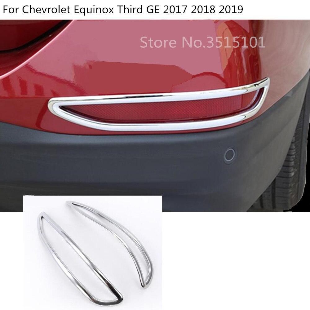 Estilo de coche cubierta del cuerpo Trim Back cola LUZ ANTINIEBLA TRASERA Marco de palos con lámpara Panel 2 uds para Chevrolet Equinox tercera GE 2017 de 2018 a 2019