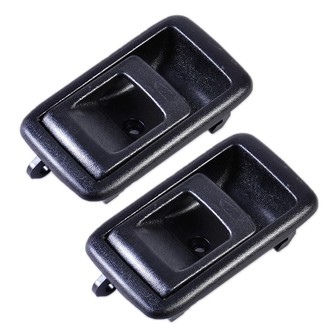 CITALL 1 par coche negro manija de la puerta Interior trasero izquierdo delantero derecho lado 6920610070A apto para Toyota Tacoma 4Runner Tercel