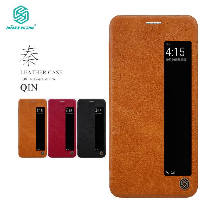 Funda para Huawei P20 Pro, funda nillkin Qin Series, Funda de cuero de imitación para Huawei P20 Pro