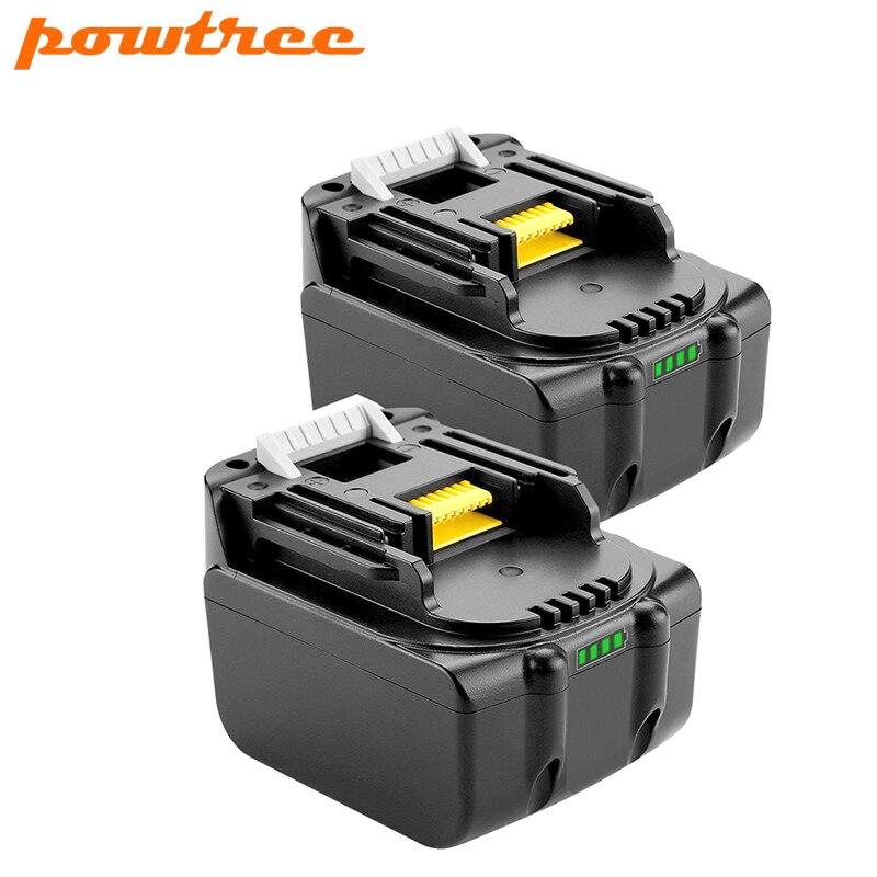 Powtree 2 шт. 14,4 В 3.0Ah для Makita BL1430 литий-ионная аккумуляторная батарея LXT200 BL1415 194558-0 194559-8 L10 BDF343 BDF343H