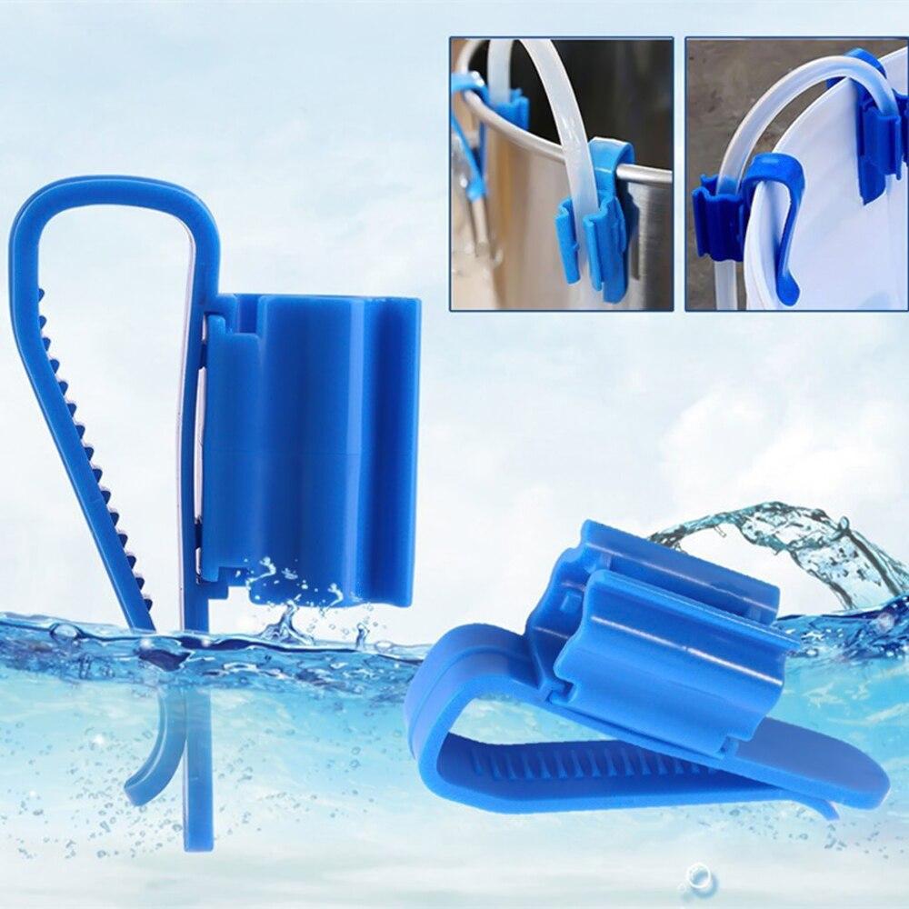 2 uds Multi-funcional soporte de manguera azul acuario filtración cubo montaje Clip para 8-16mm tubería de agua