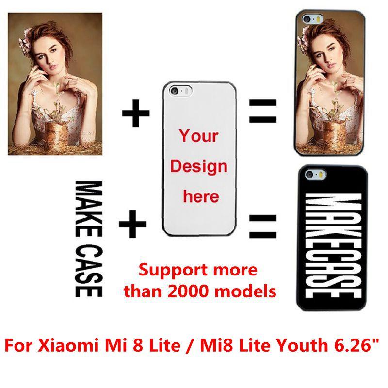 """DIY personalizado foto nombre personalizado Custo mi ze impresión de su diseño funda con imagen funda para Xiaomi mi 8 Lite/mi 8 Lite juventud 6,26"""""""