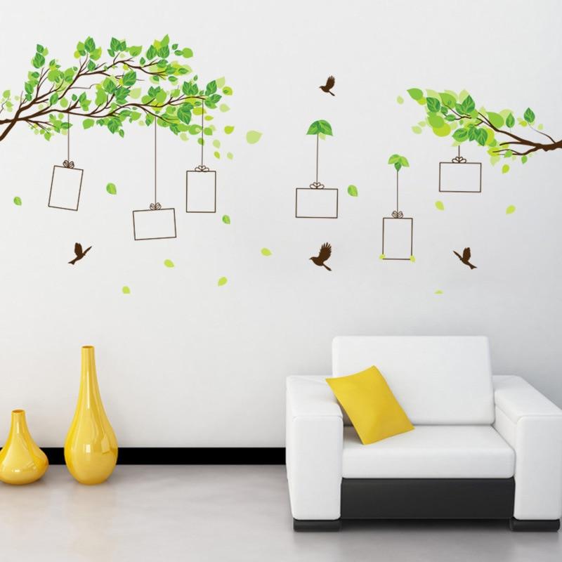 Лес памяти дерево фото наклейки на стену в раме гостиной спальни украшения дома настенные художественные наклейки птица наклейки обои