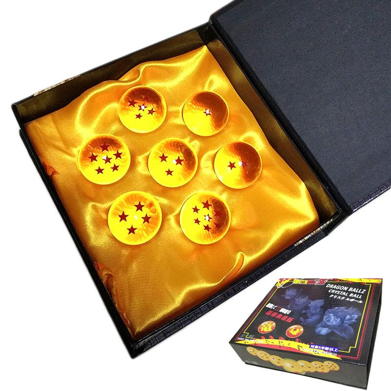 7 unids/lote 3,5 cm Dragon Ball figura Llaveros Dragon Ball Super estrella Bola de Dragón 7 en caja 7 estrellas Crystal Ball haz un voto Shenron