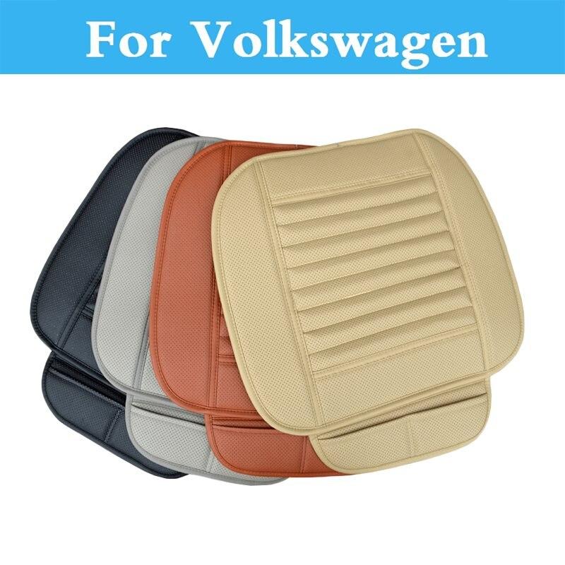 Nueva funda de asiento delantero de coche cojín de cuero transpirable Interior Pad para Volkswagen escarabajo Bora Eos Fox Golf GTI Golf Plus Golf R