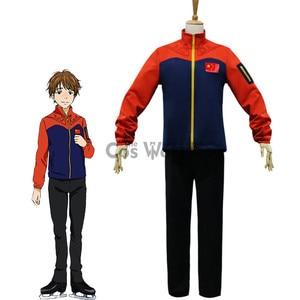 YURI!!! on ICE Ji Guang Hong Coat Jacket Pants Sportswear Jersey Uniform Outfit Anime Cosplay Costumes