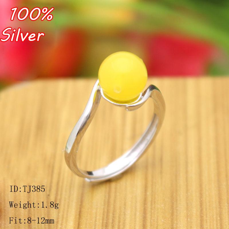 925 srebro kolorowe pierścienie ustawienie z 8-12MM Cabochon baza dla kobiet ręcznie robiona biżuteria ustawienie pierścień pusty fajny prezent