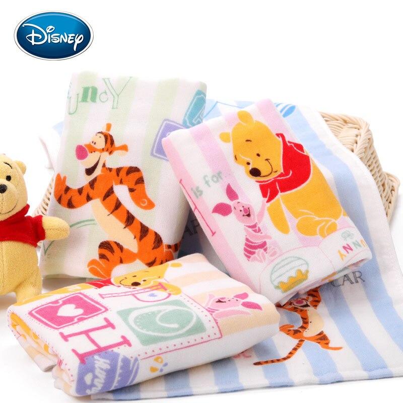 Disney Winnie The Pooh Handtuch Junge Und Mädchen Baby Fonds Gaze Kind-handtuch Reine Baumwolle Kleines Handtuch 25*50cm