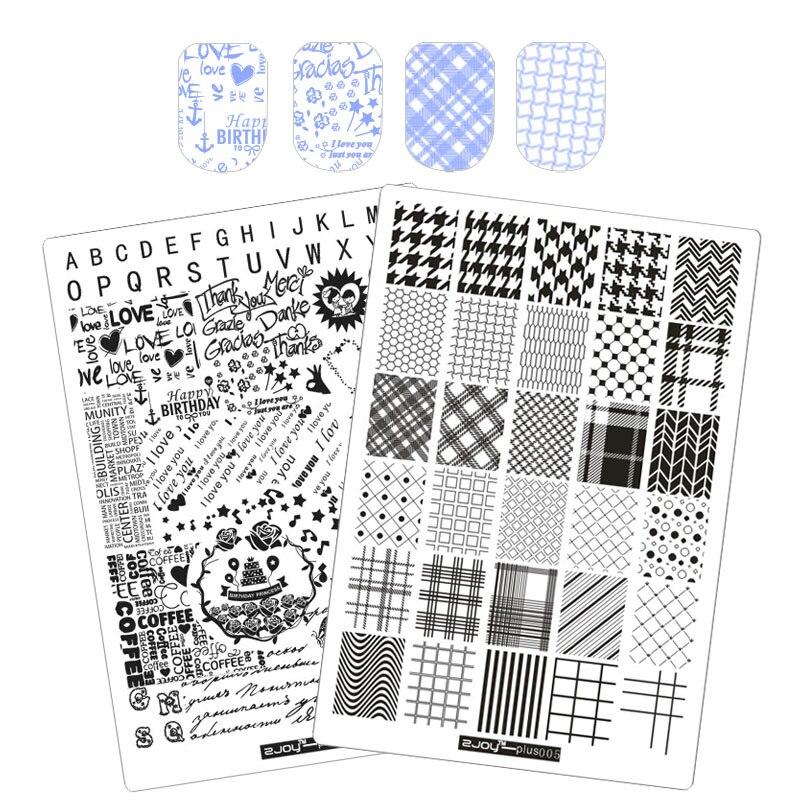 Big Size 3D DIY Decorations Nail Stamping Plates Konad Stamping Nail Art Manicure Template Stamp Nail Tools