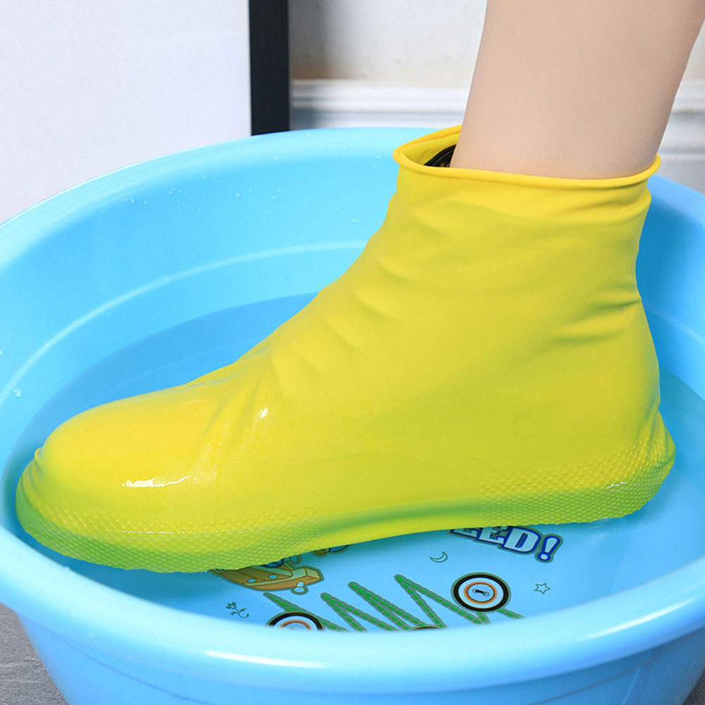 New Reusable Latex Waterproof Rain Shoes Covers Slip-resistant Rubber Rain Boot Overshoes S/M/L Shoes Accessories #2