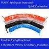 Livraison gratuite PU6 * 4mm printemps compresseur d'air tuyau et rapide détachable connecteurs Longueur 6 M 9 M 12 M 15 M compresseur D'air pièces