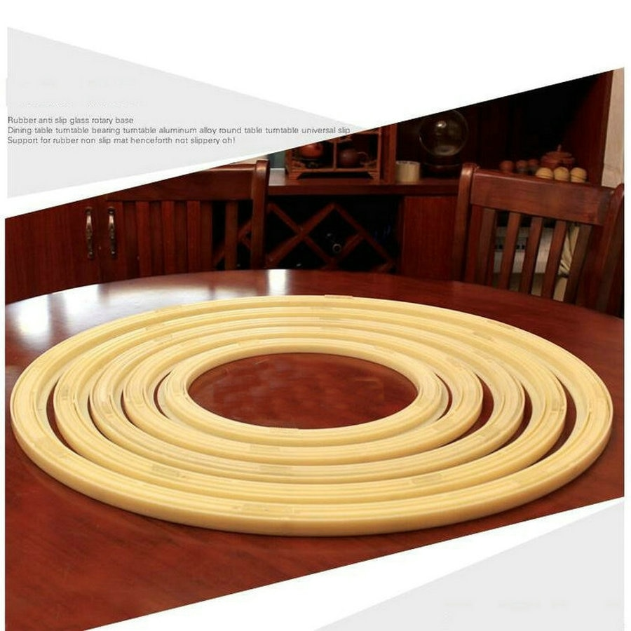 24IN/60CM Anti Slip Universal Rotating Turn Table Larizonay Lazy Susan for Round Dining Table 20in 50cm environmental anti slip universal rotating turn table bearing larizonay susan swivel plastic lazy susan