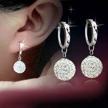 Silver Plated Circular Earrings Earrings Female Models Shambhala Fashion Jewelry Lovely Wild Super Flash Retro Crystal Jewelry