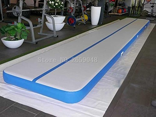 Envío Gratis 6x1x0,2 m inflable de pista de aire de gimnasia estera de pista de aire de gimnasia inflable alfombra de aire con una bomba
