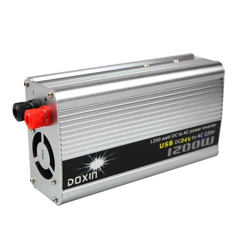 ¡Oferta! transformador inversor 24v 220v 1200W modificado Sine Wave inversor Solar fuera de la red