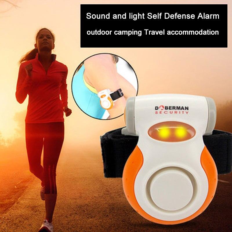 Wasserdicht Jogger Alarm Helle blinkende licht 110dB lauter ton alarm selbstverteidigung für nacht radfahren walking laufen sport