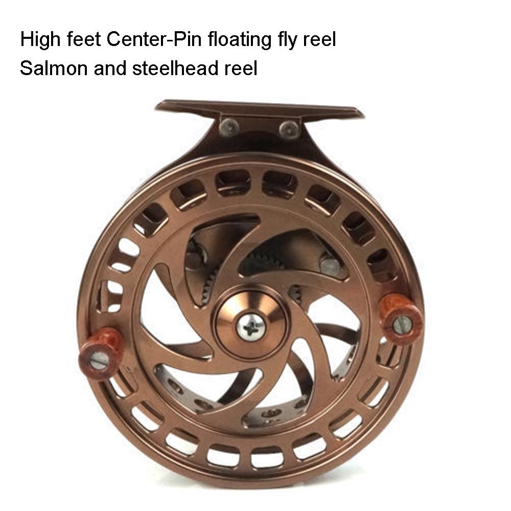 Aventik CNC Machined Cut Center-Pin Floating Fly Fishing Reel High Feet Salmon Steelhead Floating Fly Reels Super Light Reel NEW