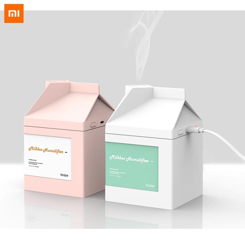 Xiaomi-humidificador con caja de leche, carga USB humidificador ultrasónico con purificador de aire, el mejor regalo, 260ML