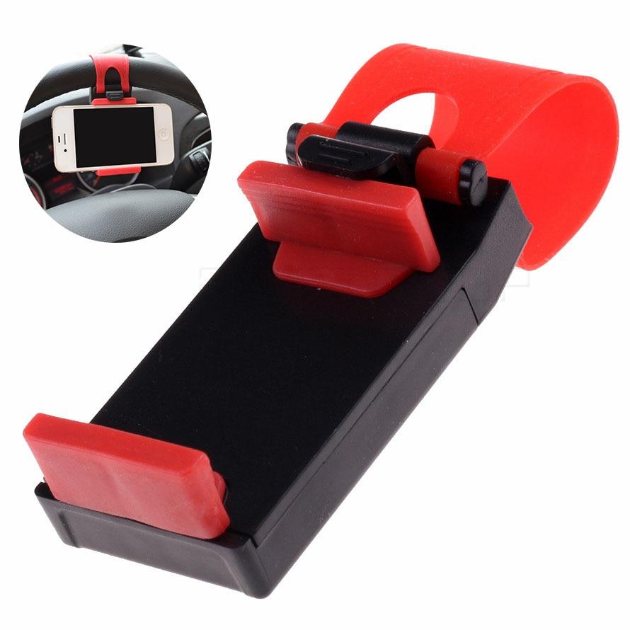 Mini soporte Universal para coche, Clip de ventilación para volante, soporte para teléfono móvil