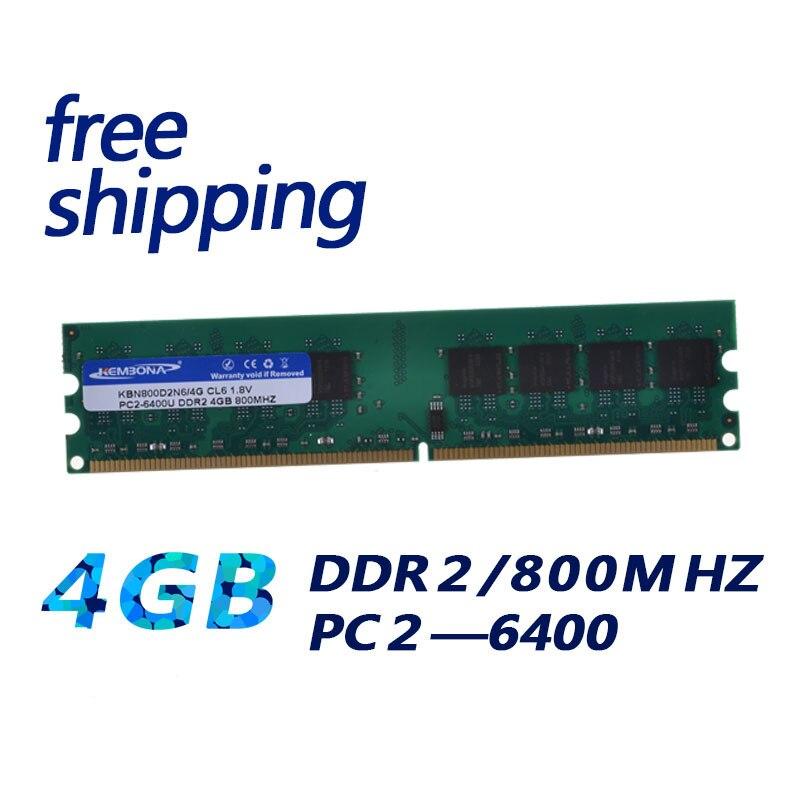 KEMBONA العلامة التجارية DDR RAM LONGDIMM PC سطح المكتب DDR2 4GB 4G 667MHZ 800MHZ ل إنتل و ل A-M-D الكباش