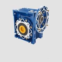Worm Gear Reducer 20:1 NMRV063 25mm Single Output Shaft 3 Phase 380v Single/2 Phase 220v 4 Pole 2400RPM 1.5kw Asynchronous Motor