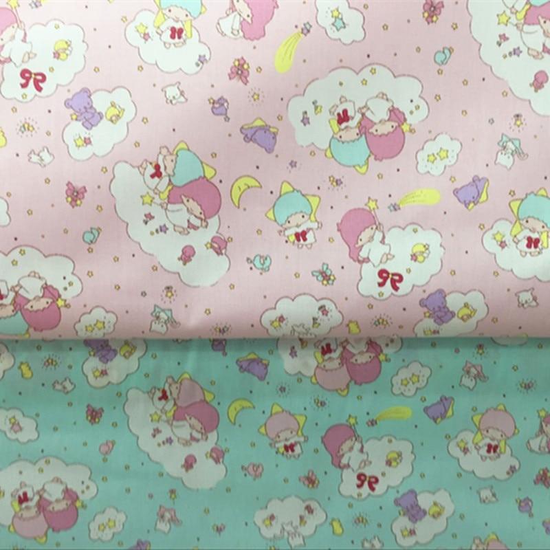 Tela de algodón con estampado de retales de estrella de 50*160cm de medio metro para tejido textil de hogar para costura Tilda Doll CR-A215