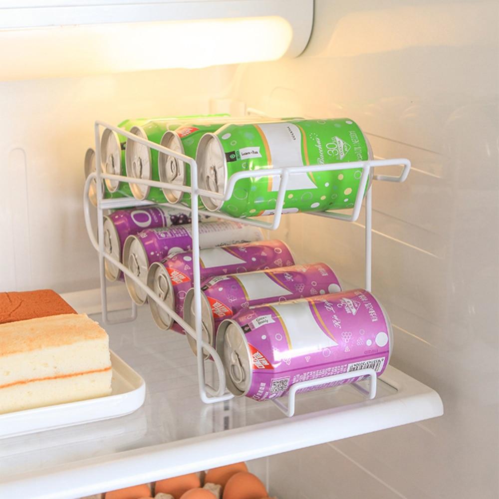 Двухслойная банка для пива и соды, 10 шт., кухонный холодильник, диспенсер для бутылок для напитков, кухонный органайзер для холодильника, инструменты, 32*18*14 см