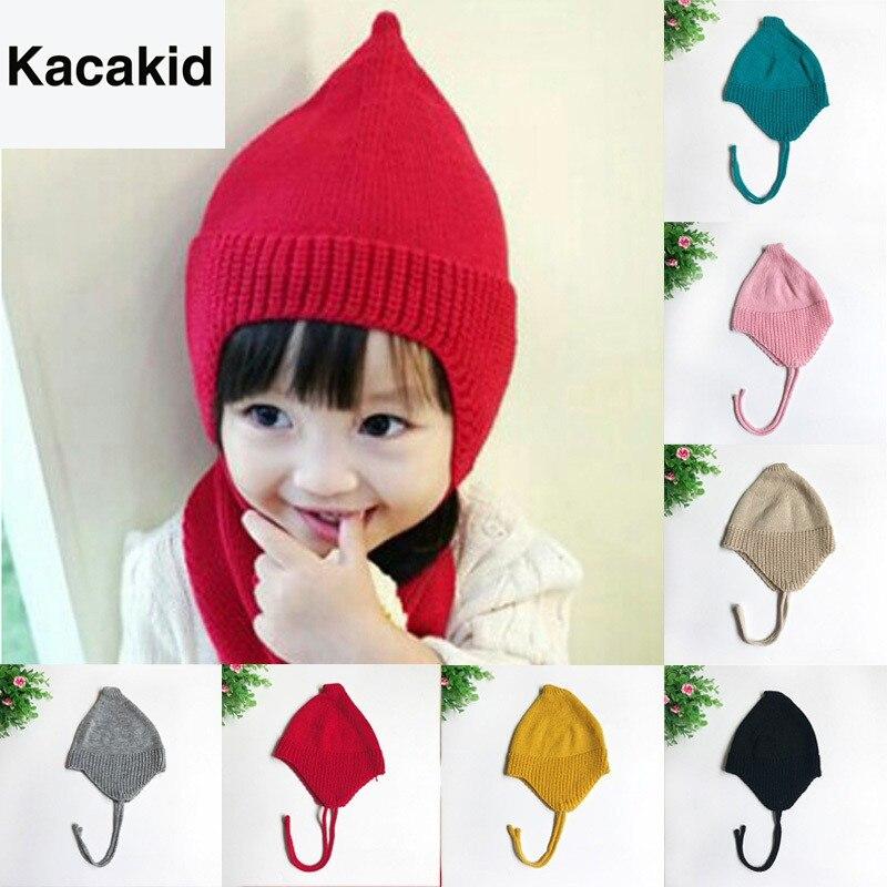 Sombreros para niños pequeños con diseño elegante de otoño invierno 2019, gorros para bebés Y niñas, gorros Tejidos cálidos para niños recién nacidos, sombreros para exteriores de 0 a 3 años S2