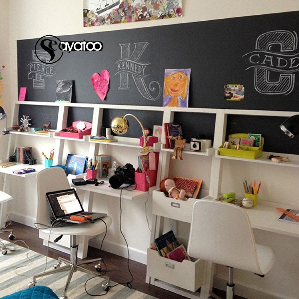 60x200cm Erasable Blackboard Chalkboard Vinyl Wall Sticker Decal Kids Room Nursery Office Home