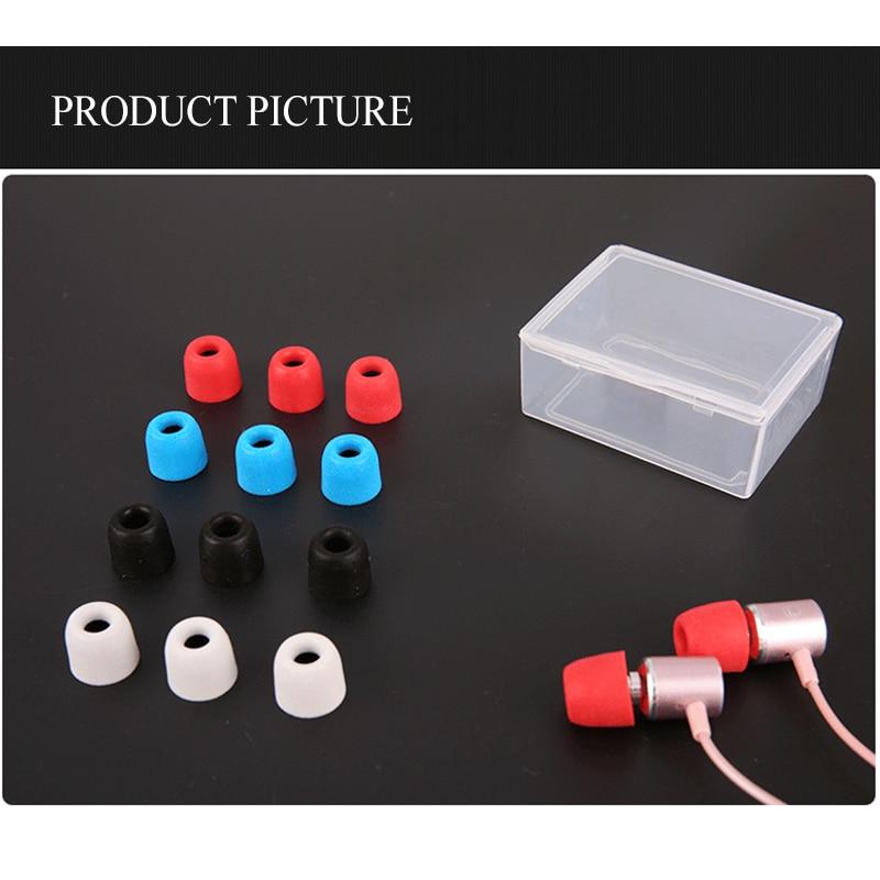 24 pcs/12 pair ANJIRUI T200 (LMS) Memory foam sponge tips ear pads 4.5mm  for in-ear earphone headset earphones enhanced bass enlarge
