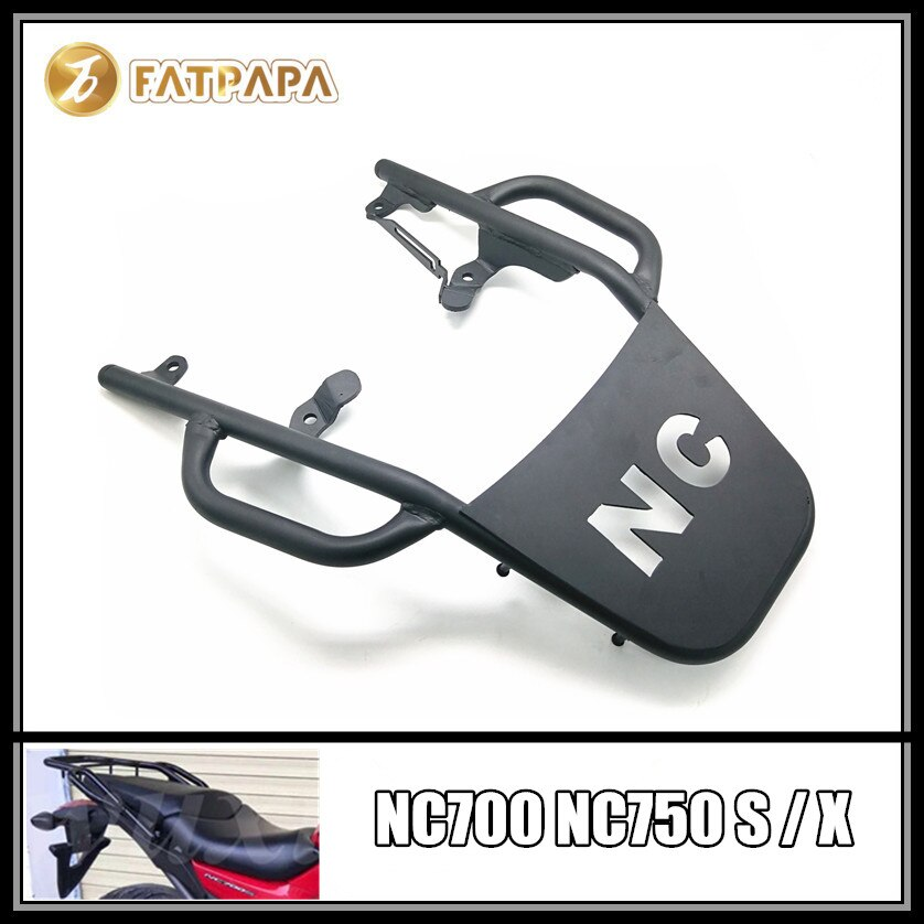 Accesorios para motocicleta, estantes traseros de acero inoxidable para Honda NC700S NC700X NC750S NC750X