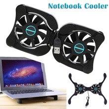 Katlanabilir USB dizüstü soğutma pedi çift taraflı Mini ahtapot Notebook soğutucu soğutma pedi inç dizüstü bilgisayar (ücretsiz hediye)