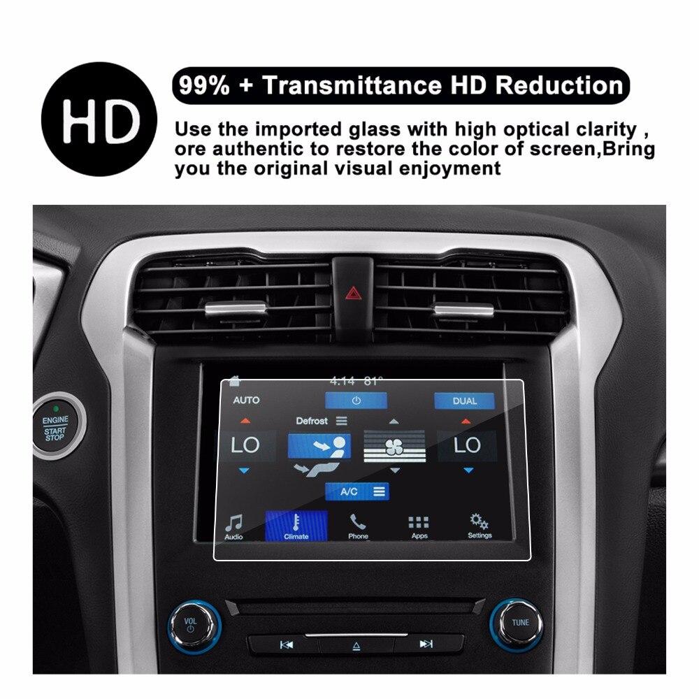 Protector de pantalla RUIYA para Ford Fusion sync2 sync3 8 pulgadas pantalla táctil de centro de navegación para coche 9H película protectora de vidrio templado